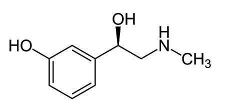 A fenilefrina, cuja estrutura está representada abaixo, é usada como  descongestionante nasal por inalação.